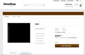 Shopware 4 Produktseite