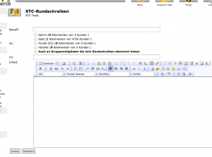 "xt:Commerce 3 Newsletter ""Rundschreiben"""